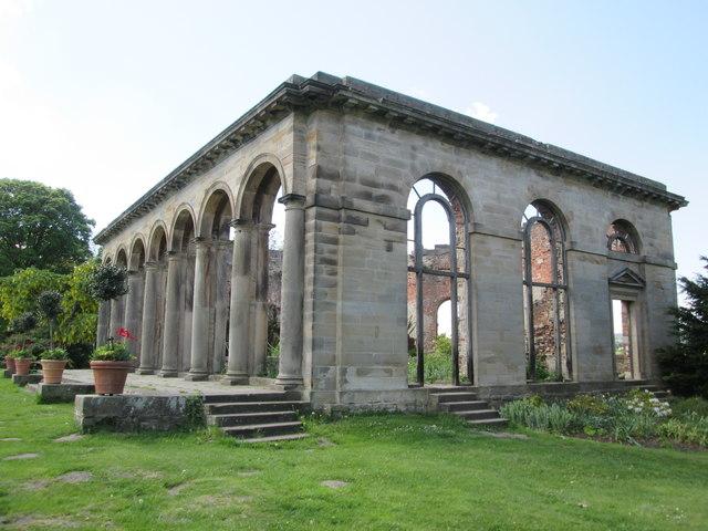 The  Orangery  (ruin)  built  in  c1773.  Gibside
