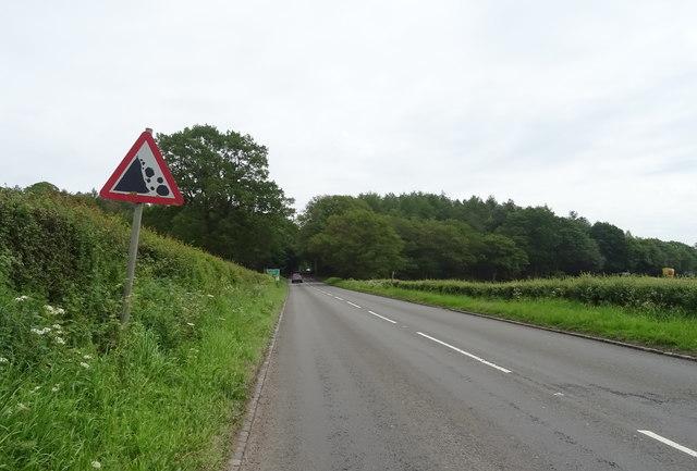A53 towards Newcastle-under-Lyme