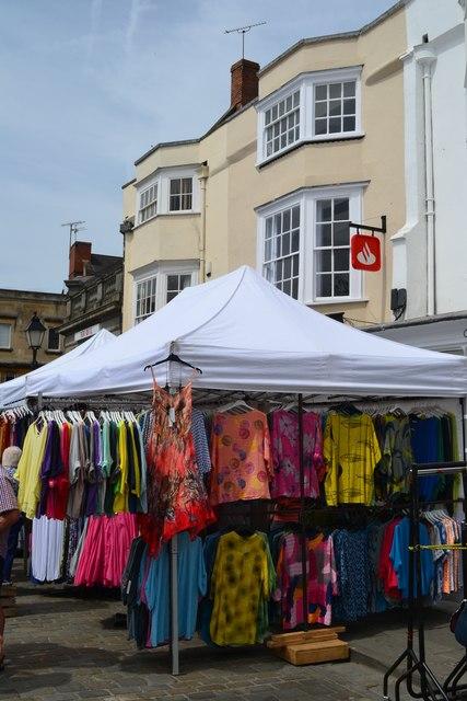 Stall in Wells Saturday market