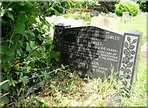 TG2408 : The gravestone of  Sewell Robert Burton Cowles by Evelyn Simak