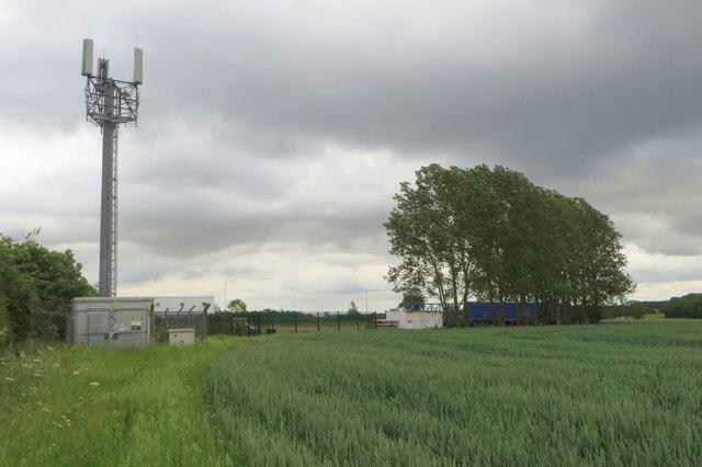 Telephone mast and transport depot