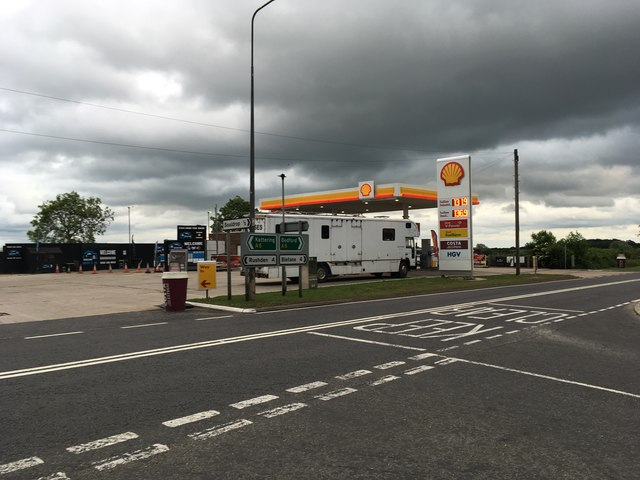 Petrol station on the A6