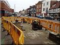 SO8933 : Roadworks on Tewkesbury High Street by Philip Halling
