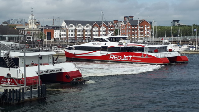 Red Funnel catamarans at Town Quay
