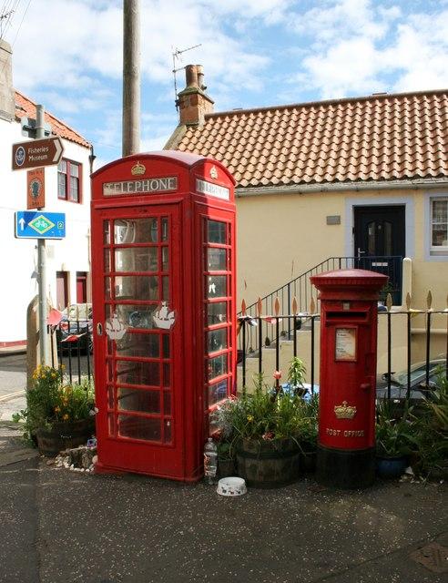 Telephone box and pillar box