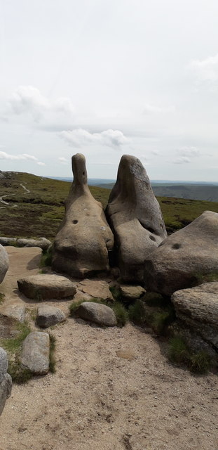 Gritstone Rock Formations near Grindslow Knoll