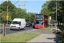 TQ2688 : 102 bus on Lyttelton Road, Hampstead Garden Suburb by David Howard