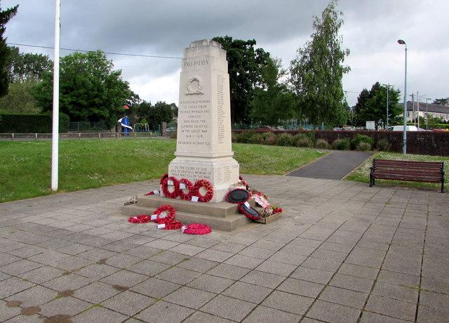 Ystrad Mynach and Hengoed War Memorial in Ystrad Mynach