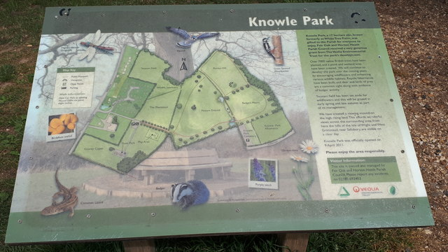 Map board in Knowle Park