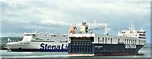 """J3778 : The """"Seatruck Performance"""" departing Belfast harbour (June 2019) by Albert Bridge"""