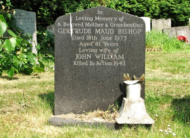 The grave of Gertrude Maud Bishop