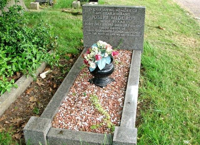 The grave of Joseph Medeiros