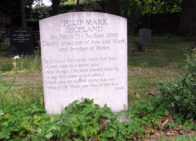 The grave of Philip Mark Shopland