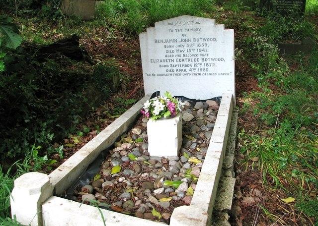 The grave of Benjamin John Botwood