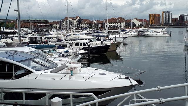 Ocean Village Marina - looking east