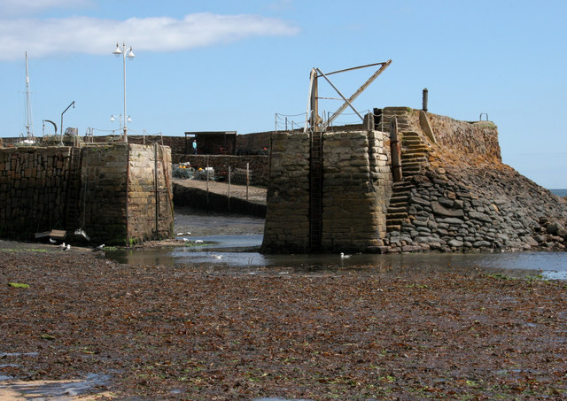 Entrance to Crail Harbour