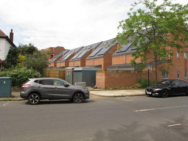 Solar panels, Grieg Road, North Acton