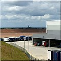 SK4526 : East Midlands Gateway – Big Box 4 and Castle Donington church spire by Alan Murray-Rust