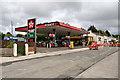 SD5235 : Texaco Petrol Station, Broughton by David Dixon