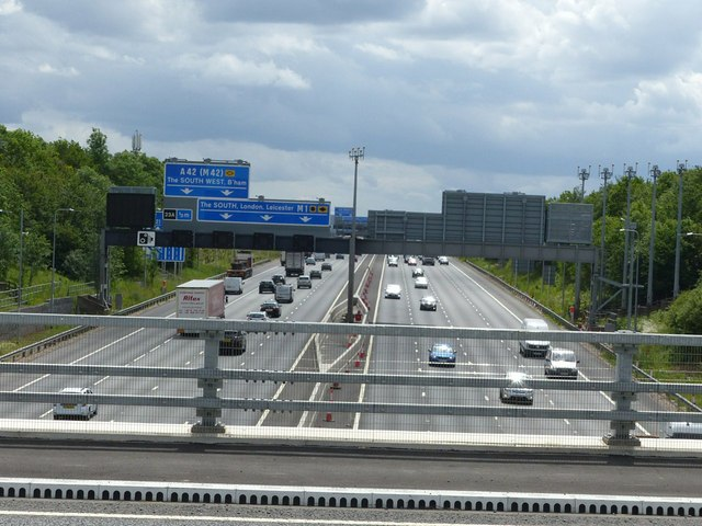 M1 near junction 23A