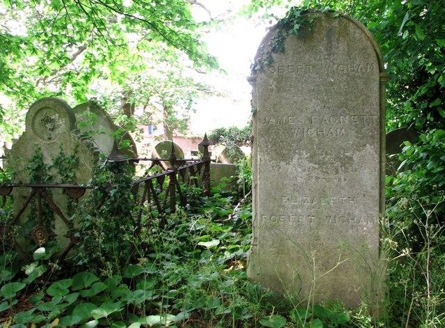 The grave of James Bagnett Wigham