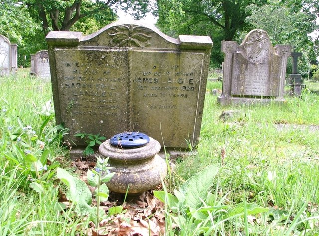 The grave of James and Sarah Emily Langley