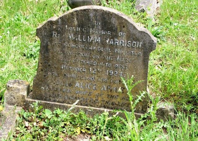 The grave of Reverend William Harrison