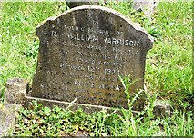 TG2408 : The grave of Reverend William Harrison by Evelyn Simak