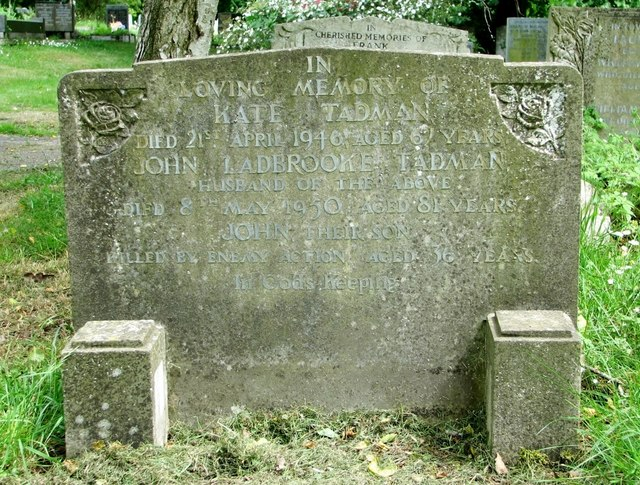 The gravestone of the Tadman Family