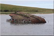 ND4798 : Blockship off Churchill Barrier No.3 by Andrew Abbott