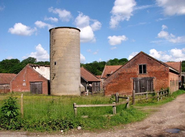 Whitlingham Barns and old silo tower