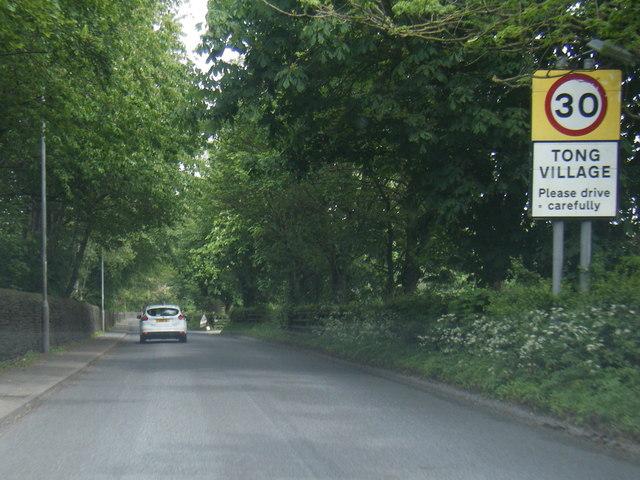 Tong Lane at Tong village boundary