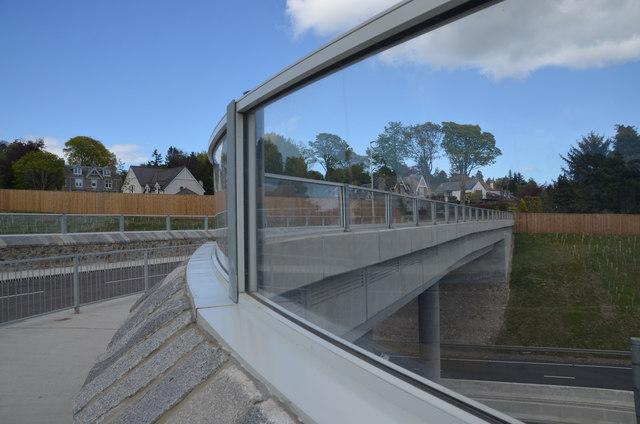 Glass Parapet on Road Bridge, Aberdeen, Scotland