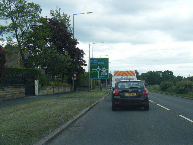A6120 Ring Road at Wellington Hill