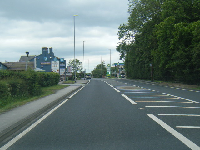 A58 Wetherby Road at The Wellington public house
