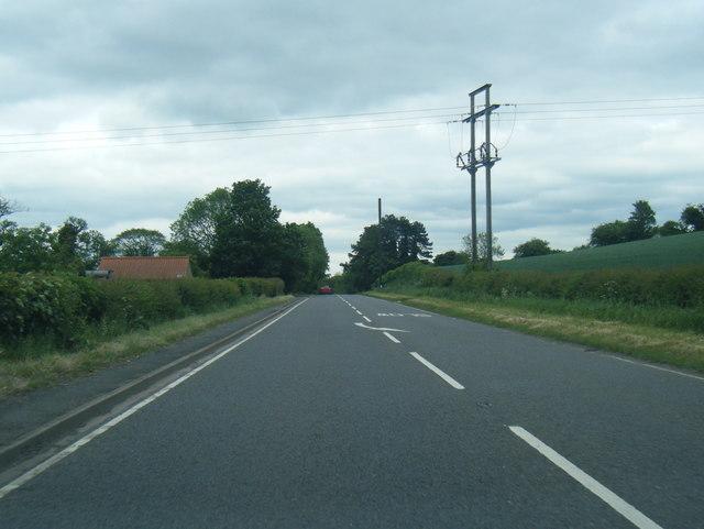 A58 Leeds Road nearing Collingham