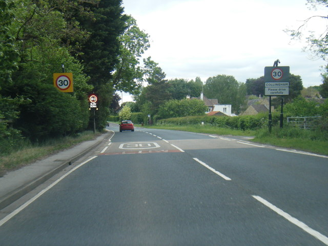 A58 at Collingham village boundary