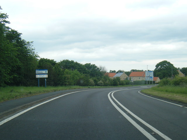 A58 at Wetherby town boundary