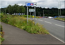 ST1599 : Park & Ride direction sign, Bargoed by Jaggery