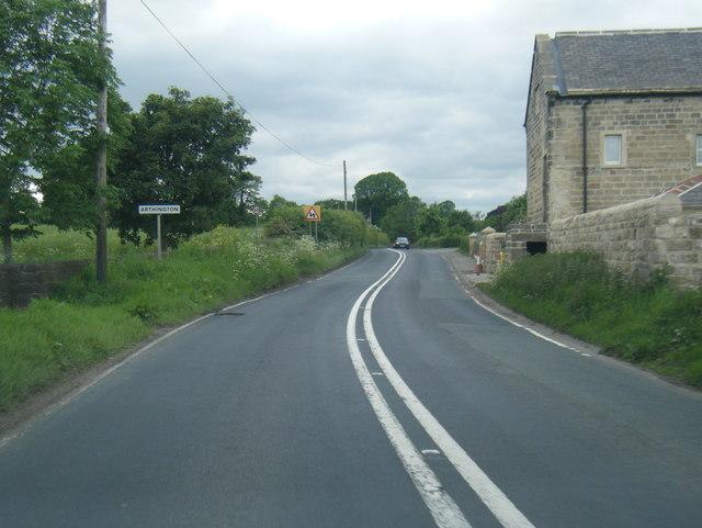 A659 at Arthington village boundary