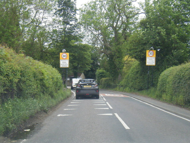 A659 at Pool village boundary