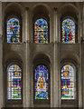 TG2208 : North Transept Windows, Norwich Cathedral by Julian P Guffogg