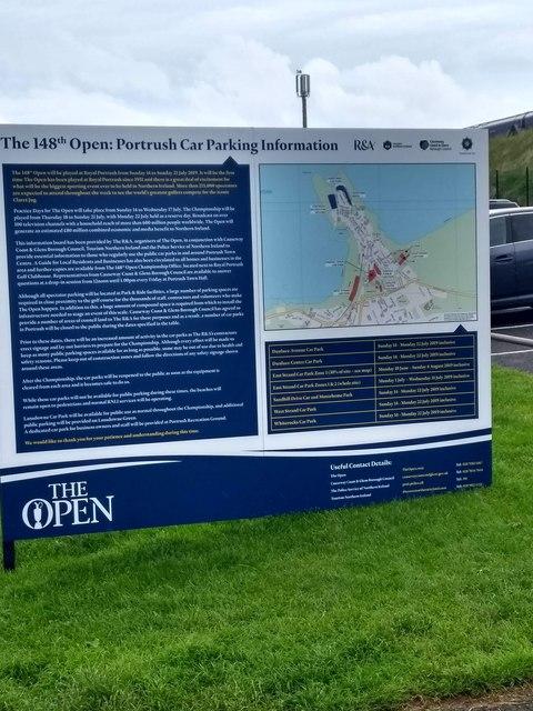 Information sign West Bay carpark