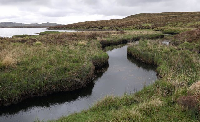 Burn flowing into Loch Langabhat, Isle of Lewis