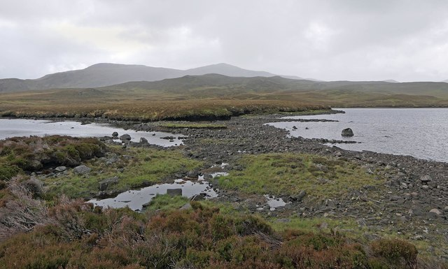 View across Loch Langabhat from Tairead Thioram, Isle of Lewis