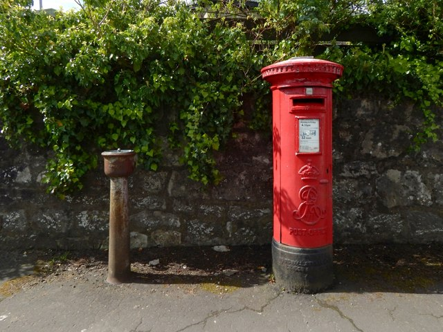 Pillar box and old drinking fountain