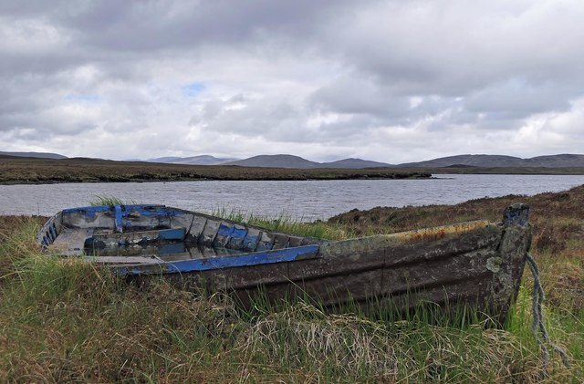 Boat by Loch Langabhat, Isle of Lewis