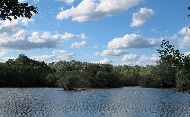 Lake in Belus Woods Country Park
