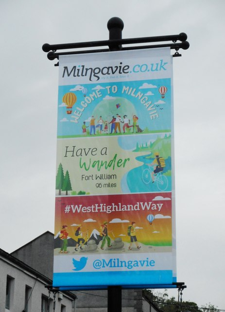 New West Highland Way banner, Milngavie
