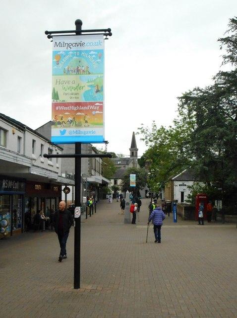 New West Highland Way banner, Douglas Street, Milngavie